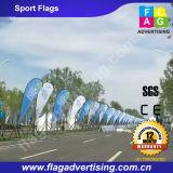 Флаг Teardrop летания напольный рекламировать с Flagpole стеклоткани