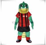 Costume animale della mascotte del coccodrillo su ordine