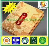 Papier de clinquant de panneau de carton/gâteau d'or de rigidité/papier cartonné d'or