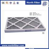 Filtro de painel de fibra sintética plissada para limpeza de ar