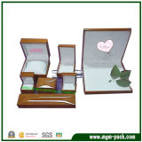 Коробка высокого лоснистого jewellery Lacqering деревянного установленная