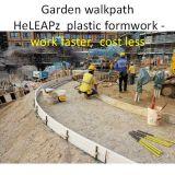 Garten-Plastikverschalung-Arbeit schneller, Kosten weniger, Leichtgewichtler, mehrfachverwendbare Bürgersteig-Verschalung