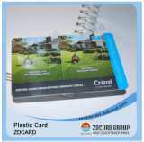 Cartão do material plástico do ISO 9001
