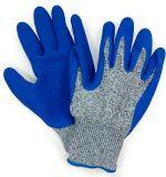Gant bleu de travail de Mechanix d'enduit de paume de latex d'anti gants de coupure de fibre de Hppe