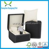Kundenspezifischer PU-lederner hölzerner Pocket Uhr-Kasten mit Einlagen