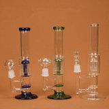 Plataformas petrolíferas de vidro do reciclador da tubulação de fumo da água