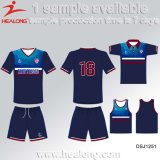 Futebol uniforme personalizado Sportswear Jersey do Sublimation de Healong