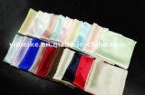 Le mouchoir fabriqué à la main carré Pocket en soie pur de 100% conçoivent le logo en fonction du client