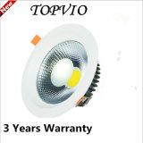 引込められた穂軸10W LED Downlight白い銀製ハウジング