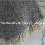 Jet frangé par laines mérinos pures de laine tissé (NMQ-WT045)