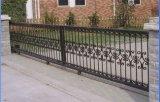 Puerta de jardín galvanizada del hierro labrado