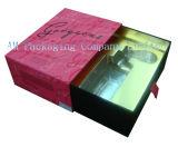 Rectángulo de regalo cosmético de papel de lujo de la impresión de calidad superior