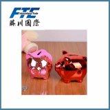 Il materiale di ceramica ha personalizzato la casella di moneta di disegno del maiale della Banca Piggy di marchio