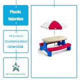 Produtos de plástico personalizados Mobiliário de jardim exterior Conjunto de mesa e cadeira Molde de injeção