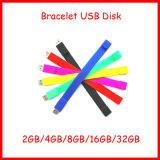 movimentação do flash do USB do Wristband do bracelete da vara da memória do USB do silicone 128g