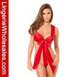 Nightwear игрушечного Bowknot сатинировки женщин женское бельё Backless сексуальное