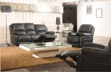 Sell preto do poço da cor e no sofá do Recliner do couro da promoção