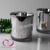 Qualitäts-galvanisiertes Glaskerze-Halter-Kerze-Cup mit runden Punkten