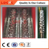 Sacchetto residuo del tubo del timpano della bottiglia usato doppia asta cilindrica del film di materia plastica che ricicla trinciatrice