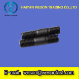 Zinco Plated Stud Bolt con Two Heads Thread