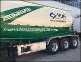Trois semi-remorque de camion-citerne de farine de la colle de poudre des essieux 38m3 à vendre