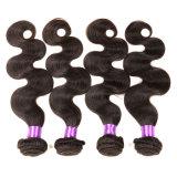 Onda peruana do corpo do cabelo do Virgin pacotes peruanos macios não processados do Weave do cabelo do cabelo humano do Virgin da classe de 4 pacotes 8A