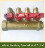 Valvola molteplice dell'acqua d'ottone/collettore d'ottone maschio del rubinetto del tubo flessibile