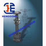 La flangia ad alta pressione del volante di API/ANSI/JIS ha forgiato la valvola a saracinesca d'acciaio