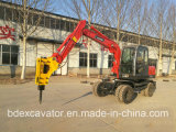 ハンマーの破損を用いる保定の車輪の掘削機
