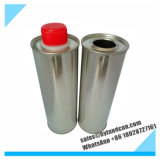 жестяная коробка металла 500ml стальная с пластичной крышкой винта