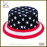 Cappello della benna di Boonie stampato bandiera americana su ordinazione