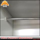 Металл мебели 2 ярусов плоский упакованный стальной одевает шкаф с 2 дверями