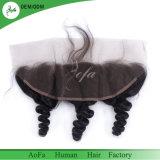 Fermeture latérale brésilienne Fermeture en dentelle complète d'oreille auditive avec cheveux bébé 13X4 Front de lacet bon marché