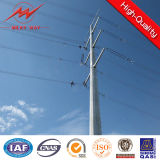 8m 5kn Afrika Galvanized Electric Power Pole Manufacture
