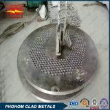 CuNi de acero con revestimiento de placa de tubos
