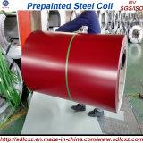 Bobines en acier galvanisé PPGI / feuilles en acier recouvert de couleur en bobine 0,14 mm