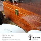 Doos In het groot _E van de Opslag van de Verpakking van de Schoen van Hongdao de Met de hand gemaakte Bruine Houten