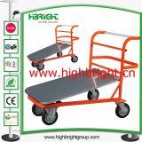Manejo de materiales de acero Plataforma Carro de la compra