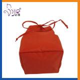 オレンジカラードローストリング袋のかわいいサイズの構成袋