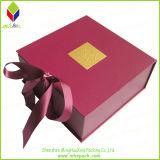 Caixa cosmética de empacotamento de papel do presente Foldable delicado