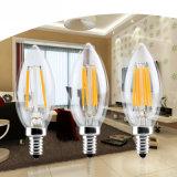 Equivalente da luz de bulbo do vidro da lâmpada de filamento do diodo emissor de luz de E14 Dimmable