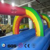 Corrediça de água inflável LG8092 do tema do arco-íris do projeto da água dos Cocos
