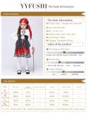 Costume Cosplay пирата Halloween малышей пестротканый для девушки