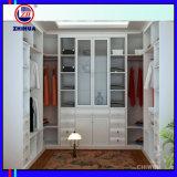 Caminhada branca da melamina do PVC no Wardrobe (ZH0007)