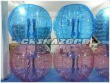 Colorear completamente el fútbol inflable de la burbuja de la bola de parachoques de la carrocería