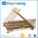 Сверхмощный твердый стальной складной контейнер ячеистой сети