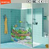 3-19mm Digital Lacksilkscreen-Druck/saure Ätzung-Muster-Sicherheit gemildert/Hartglas für Dusche/Badezimmer/Wand/mit SGCC/Ce&CCC&ISO