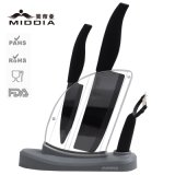 Spiegel Black Ceramic Knife Block Set mit Peeler