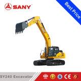 Exploitation de Sany Sy240 24ton et excavatrice de creusement de chenille de puits