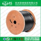 Kabel des Ethernet-CAT6 wasserdicht mit Stahlkurier